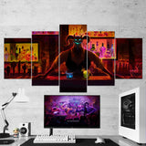 Afterparty 01 - 5 Piece Canvas Wall Art Gaming Canvas