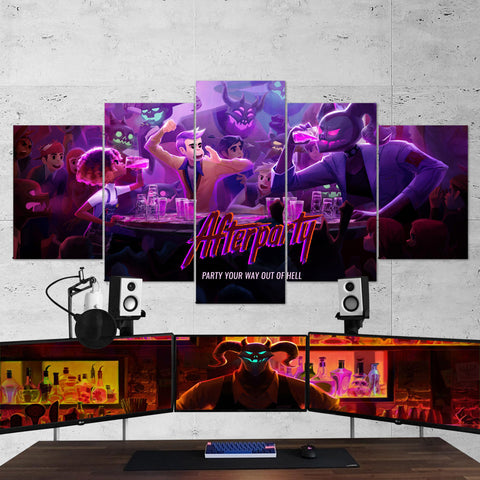 Afterparty 02 - 5 Piece Canvas Wall Art Gaming Canvas