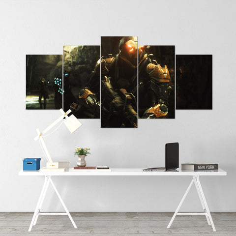 Anthem Exosuits Javelin - 5 Piece Canvas Wall Art Gaming Canvas