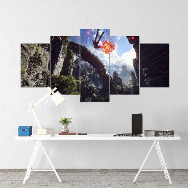 Anthem Flight - 5 Piece Canvas Wall Art Gaming Canvas