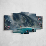 Anthem Javelin - 5 Piece Canvas Wall Art Gaming Canvas