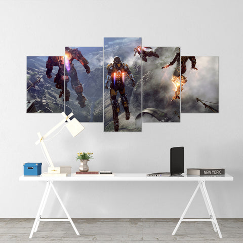 Anthem Javelin Exosuits Colossus - 5 Piece Canvas Wall Art Gaming Canvas