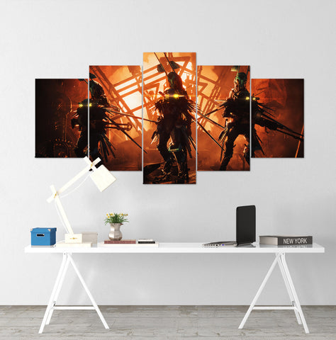 Anthem Rangers - 5 Piece Canvas Wall Art Gaming Canvas
