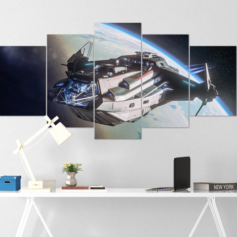Star Citizen Canvas Wall Art - Anvil Carrack Canvas Wall Art - Star Citizen Canvas Print - 5 Piece Canvas Wall Art Star Citizen Poster 01