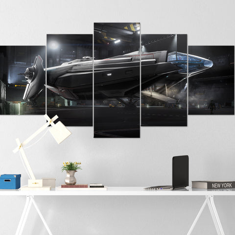 Star Citizen Canvas Wall Art - Anvil Carrack Canvas Wall Art - Star Citizen Canvas Print - 5 Piece Canvas Wall Art Star Citizen Poster 03