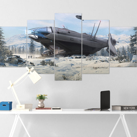 Star Citizen Canvas Wall Art - Anvil Carrack Canvas Wall Art - Star Citizen Canvas Print - 5 Piece Canvas Wall Art Star Citizen Poster 04