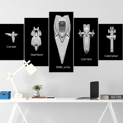 Star Citizen Canvas Wall Art - Anvil Carrack Canvas Wall Art - Star Citizen Canvas Print - 5 Piece Canvas Wall Art Star Citizen Poster 08