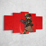Apex Legends - Bloodhound 1 - 5 Piece Canvas Wall Art Gaming Canvas