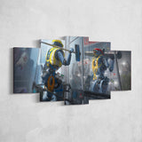 Apex Legends - Pathfinder 2 - 5 Piece Canvas Wall Art Gaming Canvas