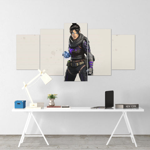 Apex Legends - Wraith 1 - 5 Piece Canvas Wall Art Gaming Canvas