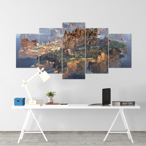 Apex Legends Map 1 - 5 Piece Canvas Wall Art Gaming Canvas