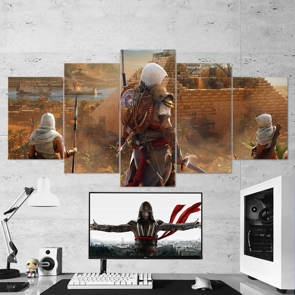 Assassin's Creed Canvas 01 - 5 Piece Canvas Art Assassin's Creed Poster