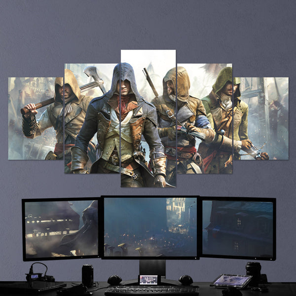 Assassin's Creed 05 - 5 Piece Canvas Wall Art Gaming Canvas