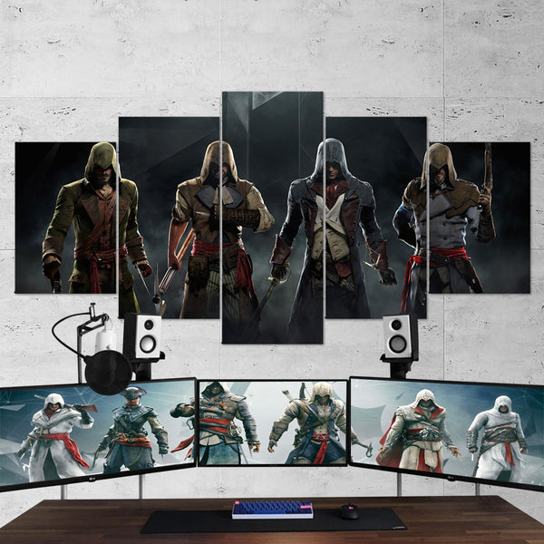 Assassin's Creed Unity 06 - 5 Piece Canvas Wall Art Gaming Canvas