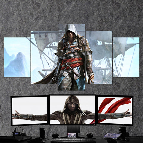 Assassin's Creed 07 - 5 Piece Canvas Wall Art Gaming Canvas Assassins Creed Poster