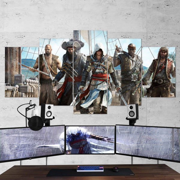 Assassin's Creed 08 - 5 Piece Canvas Wall Art Gaming Canvas Assassins Creed Poster