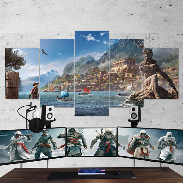 Assassin's Creed Odyssey 10 - 5 Piece Canvas Wall Art Gaming Canvas