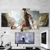 Assassin's Creed Odyssey 11 - 5 Piece Canvas Wall Art Gaming Canvas