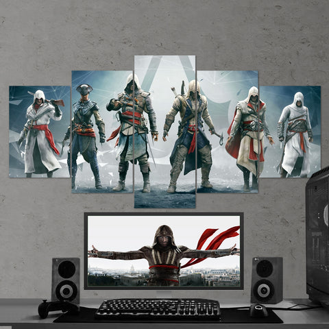 Assassin's Creed 12 - 5 Piece Canvas Wall Art Gaming Canvas