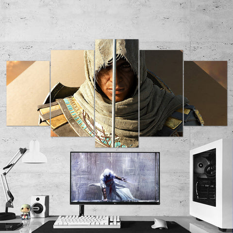 Assassin's Creed Origins Bayek 14 - 5 Piece Canvas Wall Art Gaming Canvas