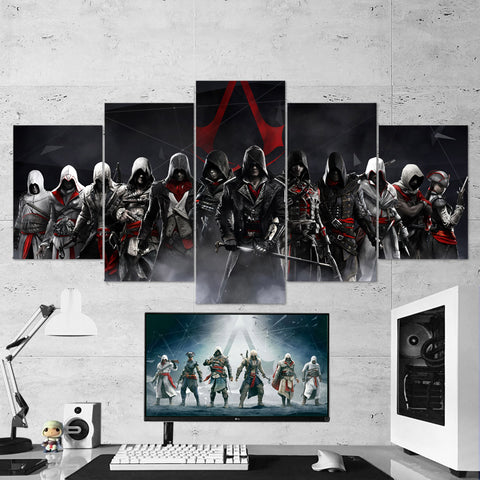 Assassin's Creed Syndicate- 22 - 5 Piece Canvas Wall Art Gaming Canvas