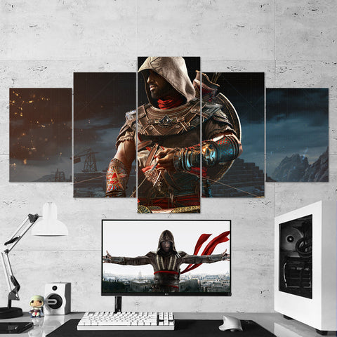 Assassin's Creed Origins 23 - 5 Piece Canvas Wall Art Gaming Canvas