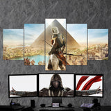 Assassin's Creed Origins Bayek 24 - 5 Piece Canvas Wall Art Gaming Canvas