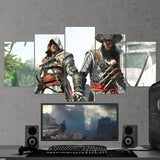 Assassin's Creed Black Flag 26 - 5 Piece Canvas Wall Art Gaming Canvas