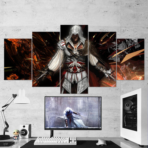 Assassin's Creed 27 - 5 Piece Canvas Wall Art Gaming Canvas