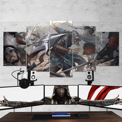 Assassin's Creed 33 - 5 Piece Canvas Wall Art Gaming Canvas