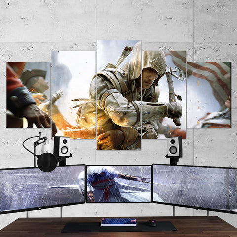 Assassin's Creed 36 - 5 Piece Canvas Wall Art Gaming Canvas