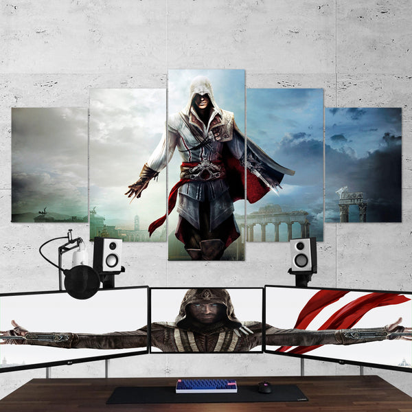 Assassin's Creed 38 - 5 Piece Canvas Wall Art Gaming Canvas