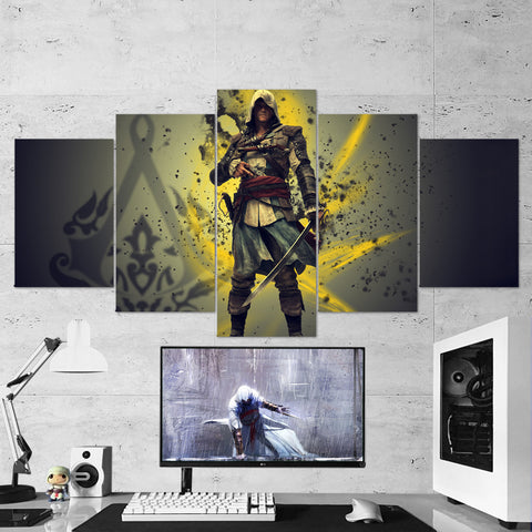 Assassin's Creed 41 - 5 Piece Canvas Wall Art Gaming Canvas