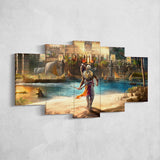 Assassin's Creed Origins 42 - 5 Piece Canvas Wall Art Gaming Canvas