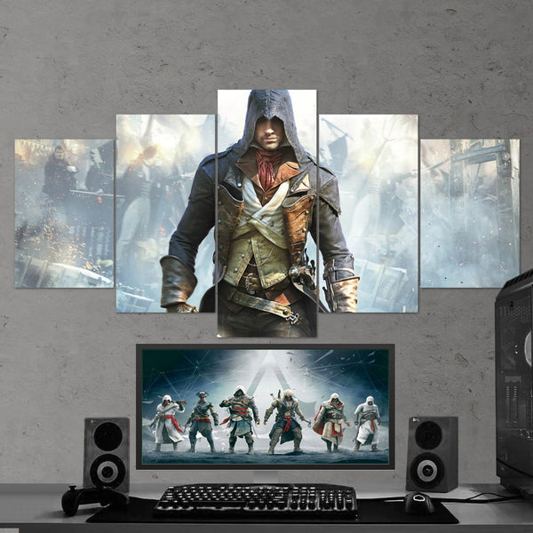 Assassin's Creed Unity 43 - 5 Piece Canvas Wall Art Gaming Canvas