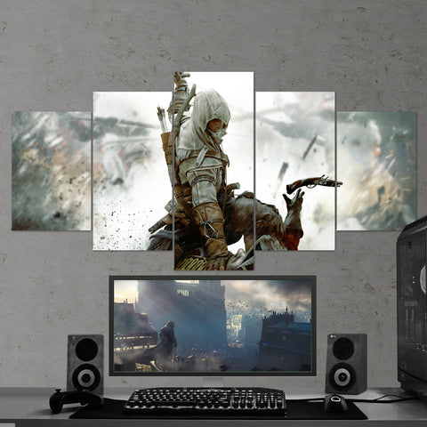 Assassin's Creed 45 - 5 Piece Canvas Wall Art Gaming Canvas
