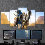 Assassin's Creed Origins Horus 47 - 5 Piece Canvas Wall Art Gaming Canvas