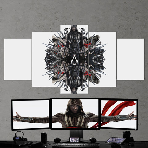 Assassin's Creed 50 - 5 Piece Canvas Wall Art Gaming Canvas