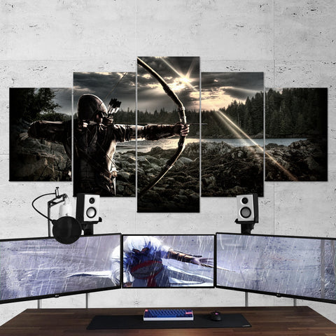 Assassin's Creed 53 - 5 Piece Canvas Wall Art Gaming Canvas