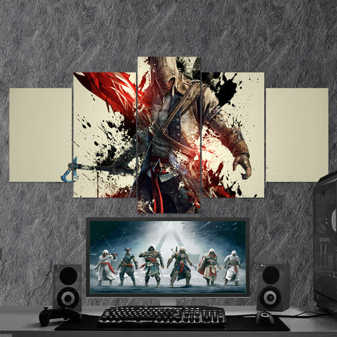 Assassin's Creed 54 - 5 Piece Canvas Wall Art Gaming Canvas