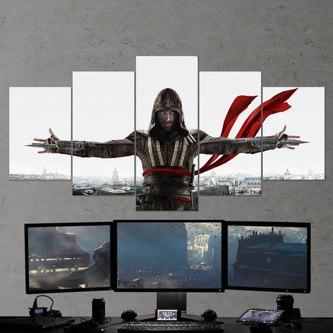 Assassin's Creed 55 - 5 Piece Canvas Wall Art Gaming Canvas