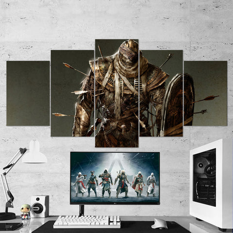 Assassin's Creed Origins Mummy Brute 57 - 5 Piece Canvas Wall Art Gaming Canvas