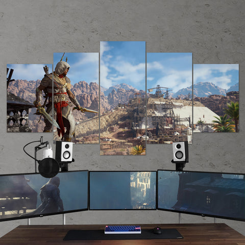 Assassin's Creed Origins 59 - 5 Piece Canvas Wall Art Gaming Canvas