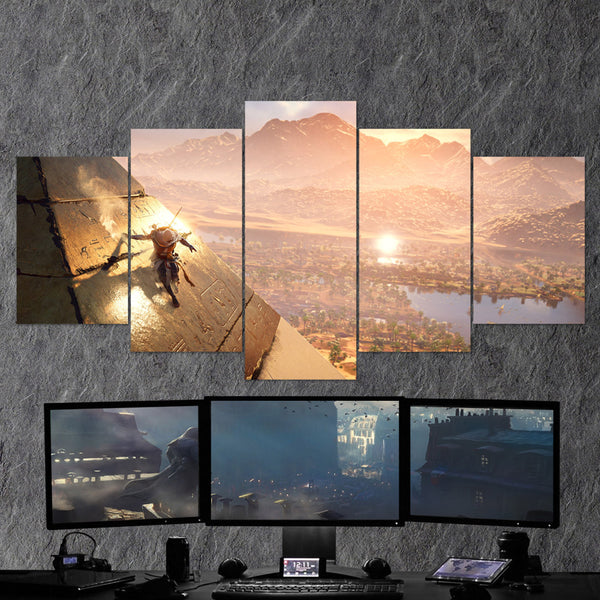 Assassin's Creed Origins 64 - 5 Piece Canvas Wall Art Gaming Canvas