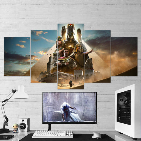 Assassin's Creed Origins 68 - 5 Piece Canvas Wall Art Gaming Canvas