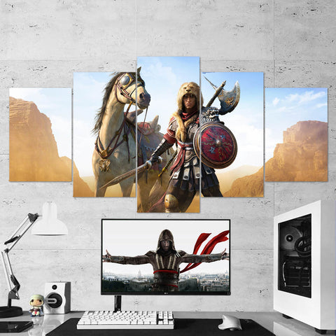 Assassin's Creed Origins Roman Centurion 69 - 5 Piece Canvas Wall Art Gaming Canvas