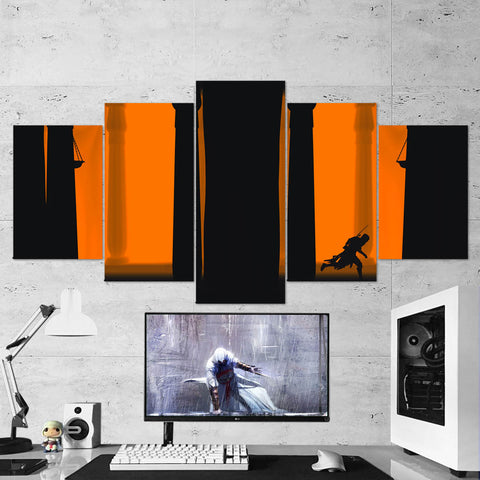 Assassin's Creed 77 - 5 Piece Canvas Wall Art Gaming Canvas