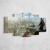 Assassin's Creed 78 - 5 Piece Canvas Wall Art Gaming Canvas