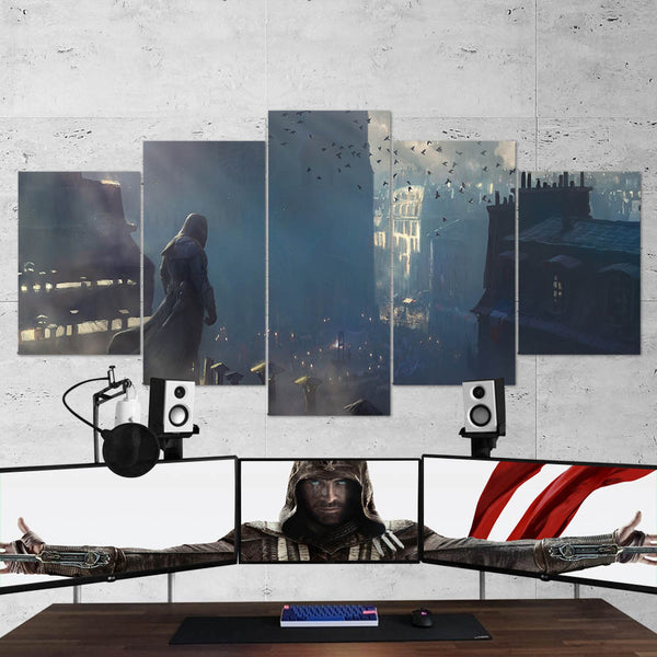 Assassin's Creed Unity 80 - 5 Piece Canvas Wall Art Gaming Canvas