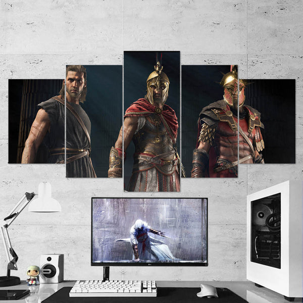Assassin's Creed Odyssey 92 - 5 Piece Canvas Wall Art Gaming Canvas